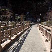 *宿の目の前にある湯の橋。渡った先には『源泉』がございます!