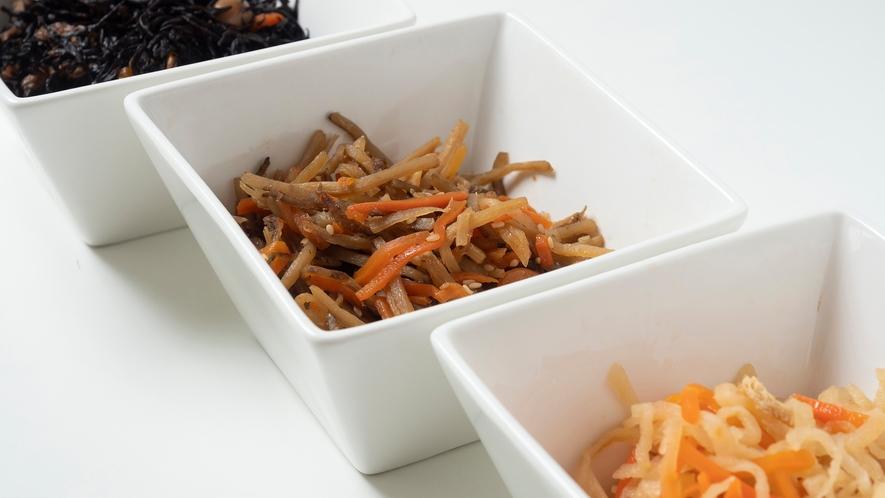 【日替わり】ひじき煮・きんぴらごぼう・切干大根