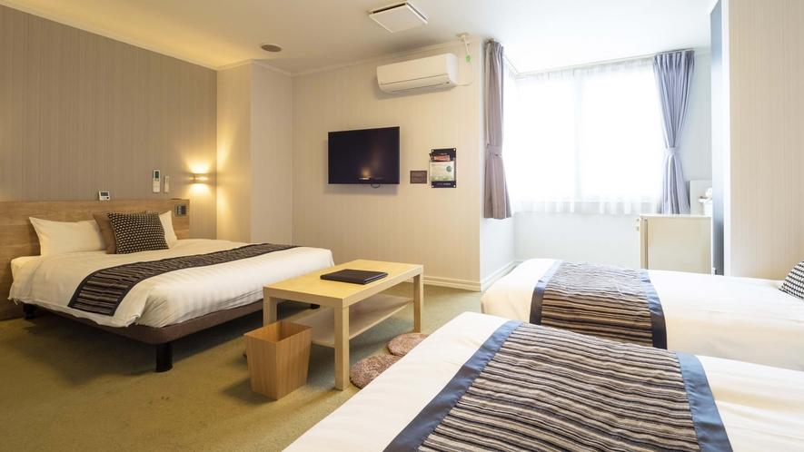 【グループルーム(4名利用】■30平米■ベッド140cm幅1台・110cm幅1台・100cm幅1台
