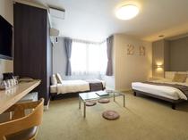 【エコノミーツイン】■25平米■ベッド140cm幅1台・100cm幅1台