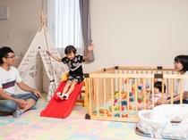【特別キッズルーム】■55平米■ベッド140cm幅1台・110cm幅2台
