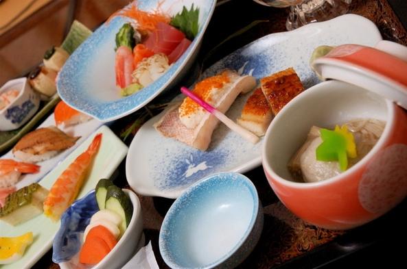 【8大特典付】貸切風呂無料と和食懐石15品のボリューム満点の「若菖蒲の膳」と選べる鍋
