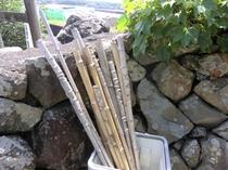 プチハイキング用の杖