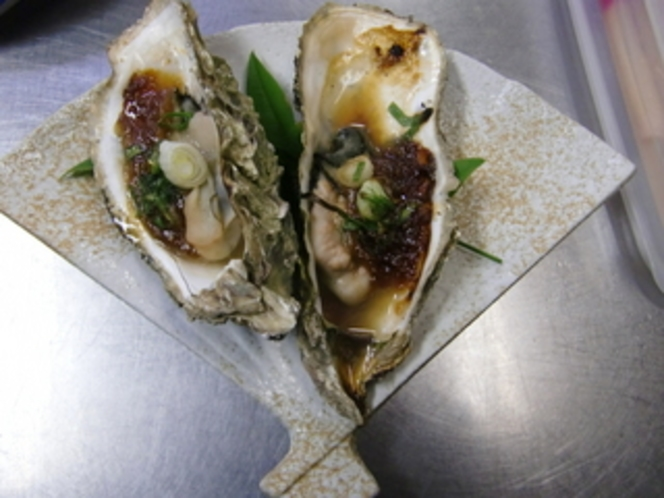 牡蠣味噌ねぎ焼き