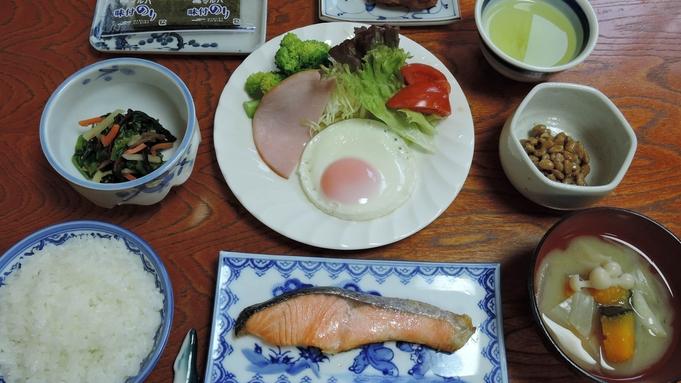 【朝食付】翌朝はしっかり栄養補給◎女将手製の素朴な和定食をどうぞ♪