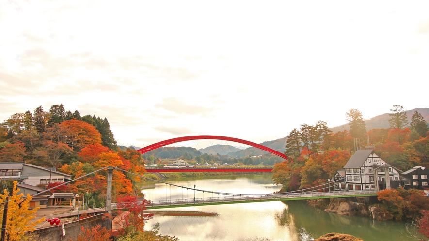 秋の柳津は紅葉が見所♪