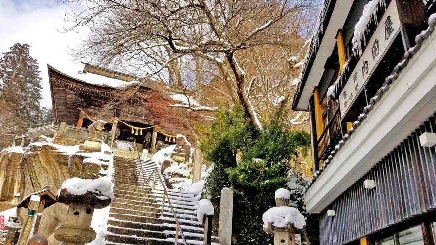 雪景色の柳津も魅力的♪