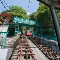*途中、「大山寺」という駅があります。