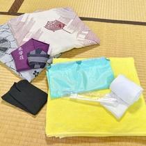 *客室アメニティ/浴衣、タオル、歯ブラシ等取り揃えています。