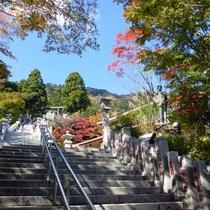 *【阿夫利神社周辺】階段を上ると神社に着きます。振り返れば絶景を楽しめます。