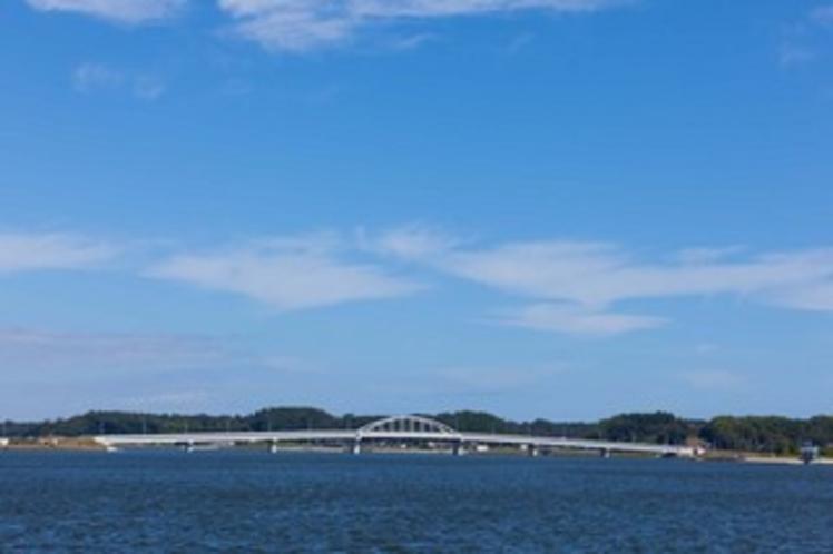 北浦湖の重要な架け橋 鹿行大橋