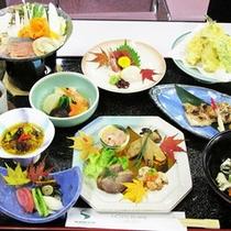 *【夕食一例】旬の味覚を楽しめるお食事をご用意致します。