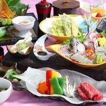 【スタンダードコース】相模灘で水揚げされた新鮮なお魚や、ブランド肉『相州牛』の陶板焼きなどをご堪能!