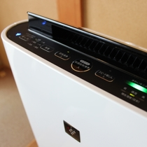 全ての客室に加湿機能付きの空気清浄機をご用意しております