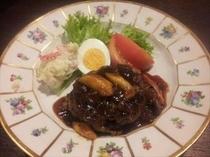 オーベルジュ・お肉料理の一例