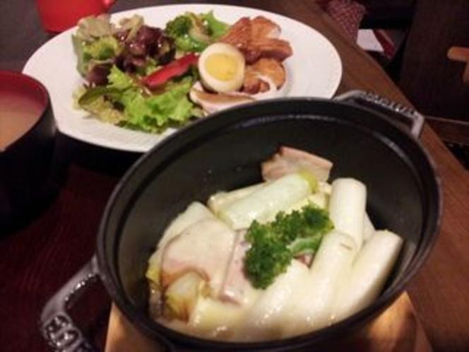オーベルジュ・お野菜料理の一例