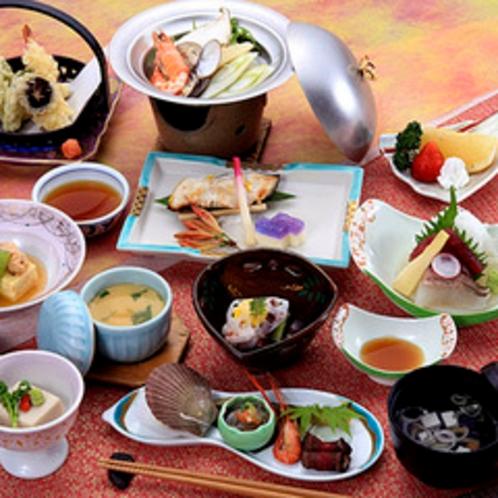 *料理一例/山海の旬の味覚を贅沢に。