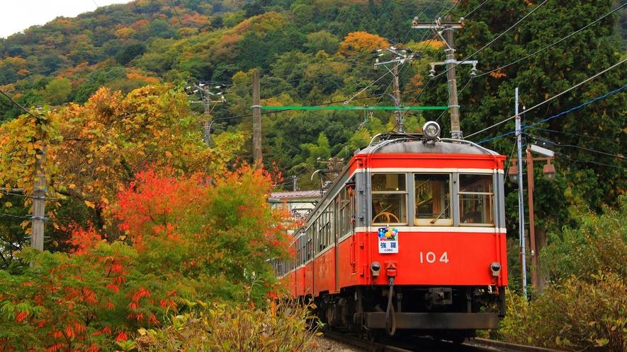 秋の登山鉄道