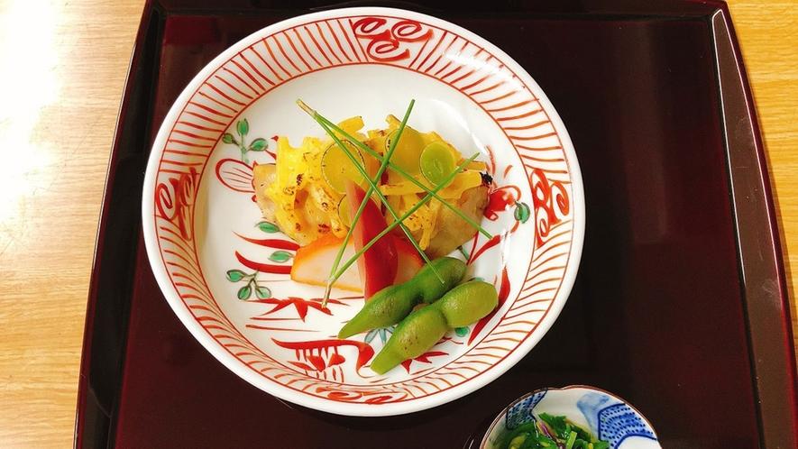 *【夕食一例】焼肴。季節に合わせ、一品一品丁寧に御作りします。