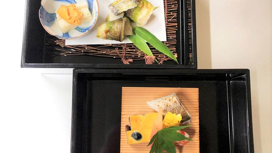 *【夕食一例】旬の高級食材を使用した四季折々の本格懐石料理をご堪能ください。