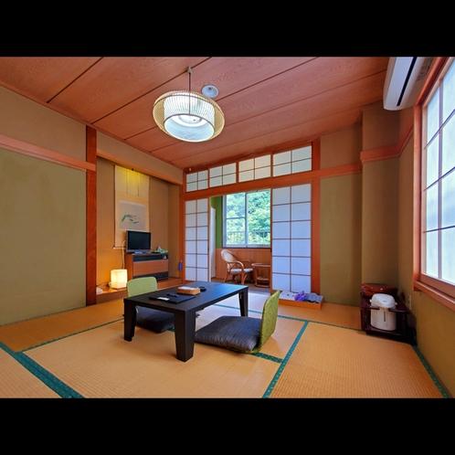 8畳から12畳までの広々とした和室。