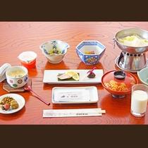 【ご朝食一例】栄養バラスを考えた身体に優しい和朝食をご提供いたします。