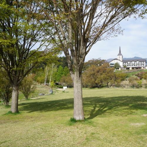 荒神山公園 芝生&HOTEL