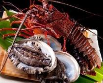 お料理イメージ(伊勢海老、鮑などの豊富な海の幸を堪能ください)