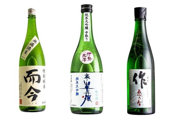 【而今・作・半蔵】三重の有名蔵元、3種の日本酒を飲み比べ♪伊勢海老・鮑のお造りと鯛の宝楽焼き付き♪