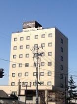 ホテル外観です。喜多方市内で一番高いビル。