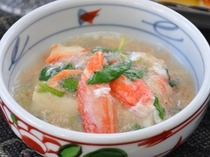 【ご夕食】小鉢料理の一例