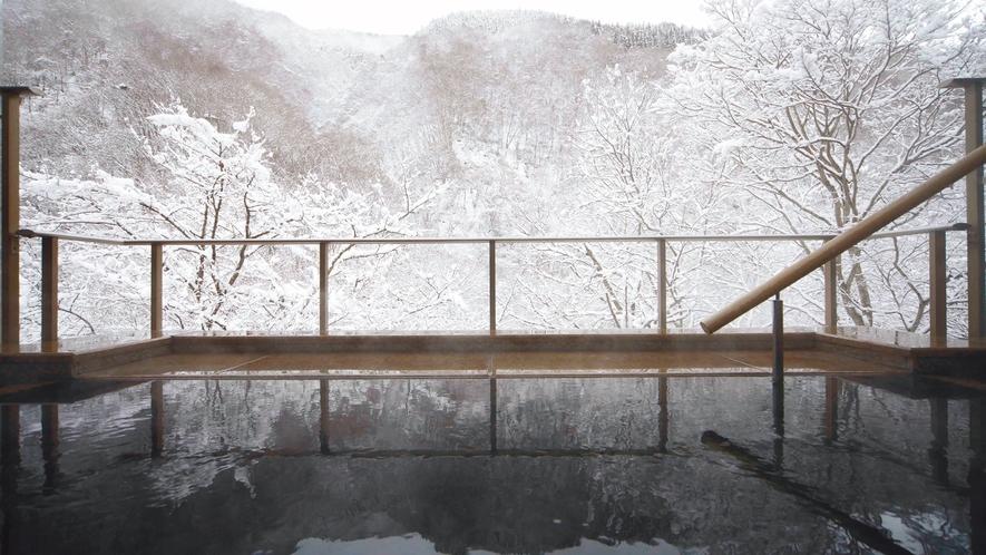 露天温泉 冬