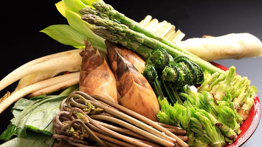 夕食一例 山菜