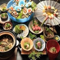 藤井荘 和食会席一例