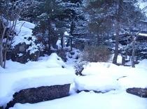 庭園の池・冬(平成26年3月8日撮影)