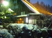 雪のライトアップ(25年12月22日撮影)