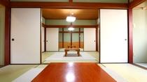 【18畳和室】6畳のふすま仕切のお部屋をつなげています
