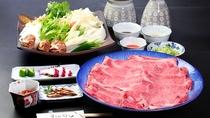 【近江牛しゃぶしゃぶ】自家製の野菜と近江牛をお楽しみください
