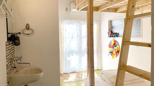 貸切風呂付【ツインベッドルーム】バストイレなし □禁煙□