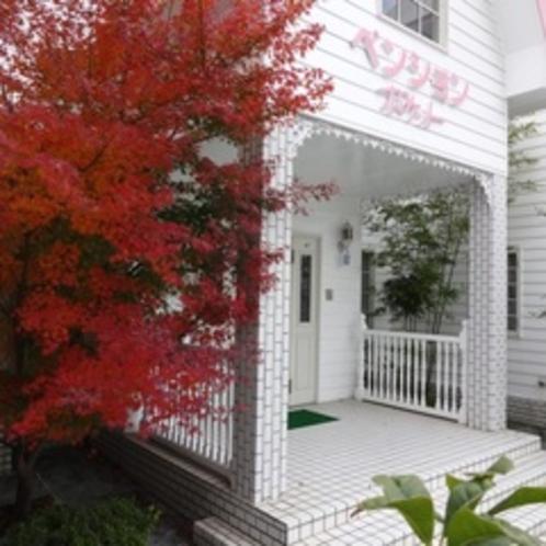 秋の玄関風景