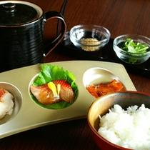 金目鯛の煮付け、づけ、塩焼きを食べ比べ。