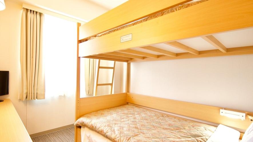 【2段ベッドルーム】ベッドサイズ:103×195(㎝)