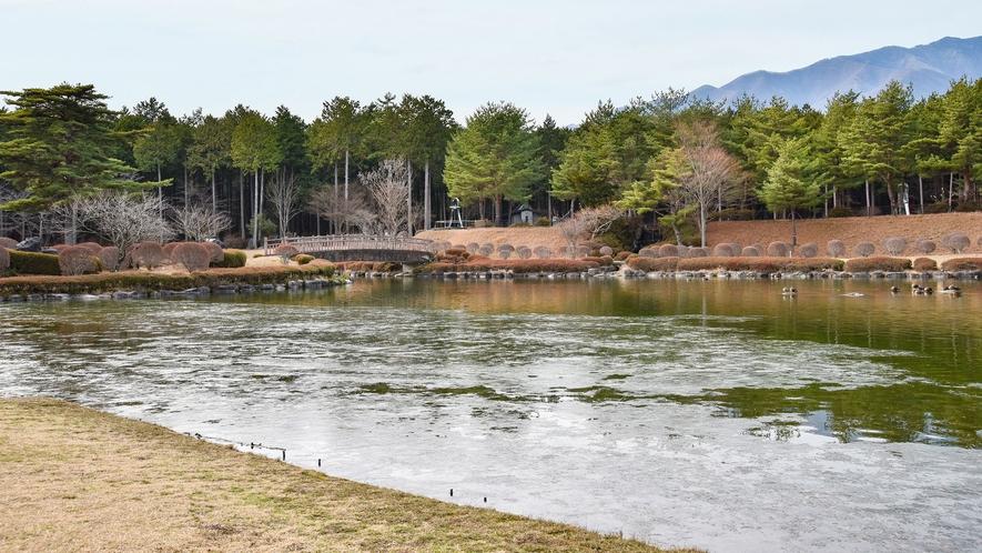 **大芝湖 四季折々の景観がお楽しみいただけます!