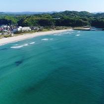 目の前の美しさは日本海ならでは!