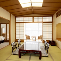 <和洋室一例>和と洋の融合♪寝るときはベッド、寛ぐ時は畳でごろごろ