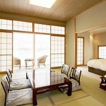 <和洋室一例>和と洋の融合♪寝るときはベッド、寛ぐ時は畳でごろごろ♪それが叶うお部屋です。