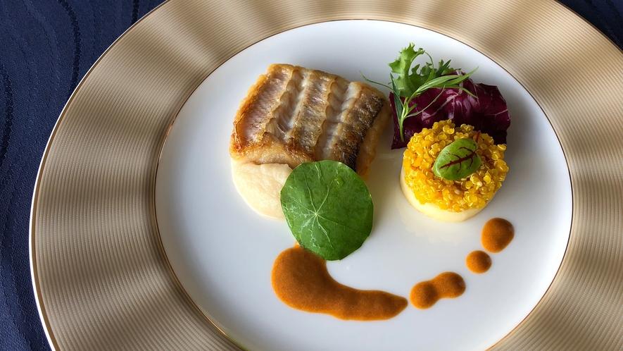 *【夕食一例】ポアソン:旬の食材を使用した、お箸で食べるフレンチ!