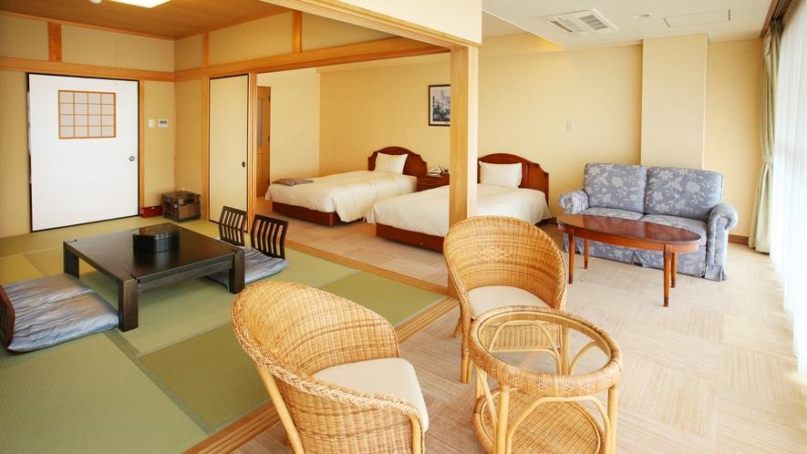 *<和洋室一例>和と洋の融合♪寝るときはベッド、寛ぐ時は畳でごろごろ♪それが叶うお部屋です。