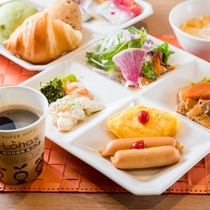 【健康朝食バイキング】和洋折衷日替わりメニュー