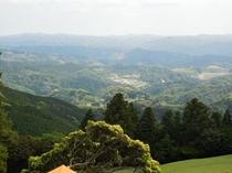 屋上からの景色 房総の山々